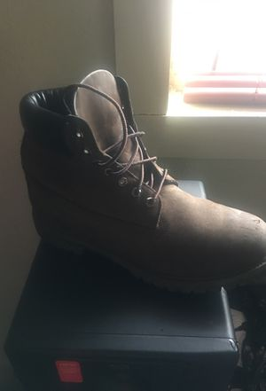 Chocolate timberlands size 12 for Sale in Dallas, TX