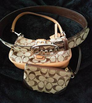 Authentic Coach purse, wallet and belt for Sale in Tucson, AZ