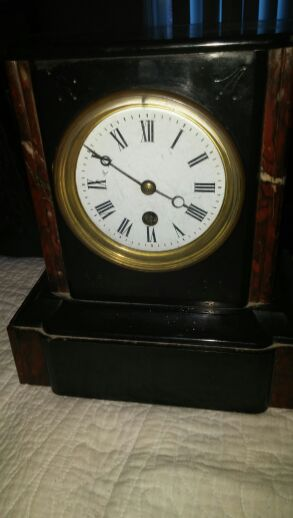 Antique clock. 1890 in marble for Sale in Winter Park, FL