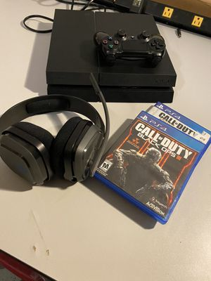 PS4 1TB + 2 Games + ASTRO Gaming Headset for Sale in Peoria, AZ