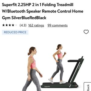 Superfit 2.25HP 2 in 1 Folding Treadmill W/Bluetooth Speaker Remote Control Home Gym Green for Sale in Riverside, CA