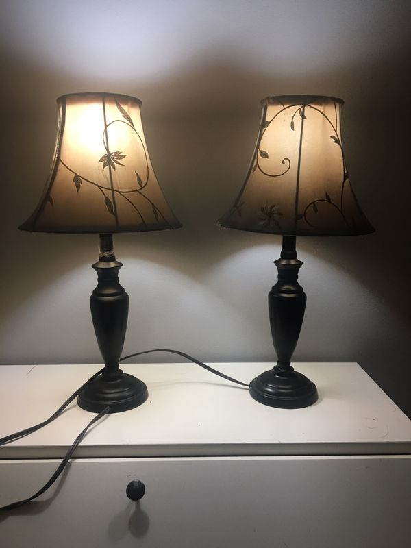 Two side-table lamps