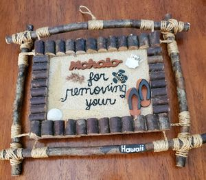 Hand Crafted Hawaiian Mahalo ( thank you ) Sign for Sale in Bolingbrook, IL
