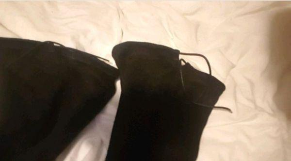 Wild Diva Lounge Thigh High Black Boots $30
