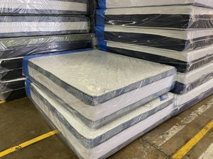 Queen Mattress - Double Side - 16 inch - come with box spring - Available Delivery for Sale in Baltimore, MD