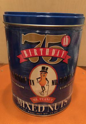 75th Birthday 🎂 Mr Peanut 🥜 Collectible Tin for Sale in Gainesville, VA