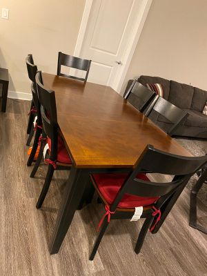 Dinning table with 6 chairs. You can shorten it. For $400 for Sale in Herndon, VA