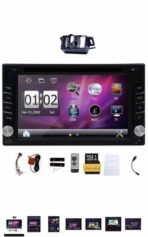 """BRAND NEW 6.2"""" Touch Screen Car Stereo System Radio 6.2"""" Double 2 DIN Car DVD CD Video Player Bluetooth GPS Navigation Digital monitor for Sale in Diamond Bar, CA"""