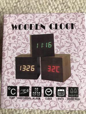 Alarm clock with date,temperature display,sound control, adjustable brightness. for Sale in Virginia Beach, VA