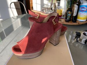 Michael Kors size 9 sandals rust suede for Sale in Valley Center, CA
