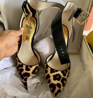 Michael Kors gold ankle strap leopard hair for Sale in Live Oak, TX