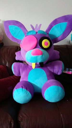 Five nights at Freddy's blacklight plushies huge foxy for Sale in Philadelphia, PA