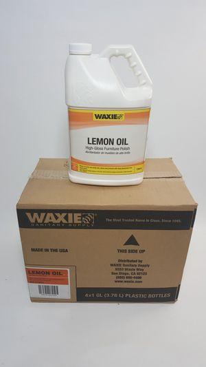 Waxie Lemon Oil Furniture Polish Case Of 4x1 Gallon #750014 for Sale in Portland, OR