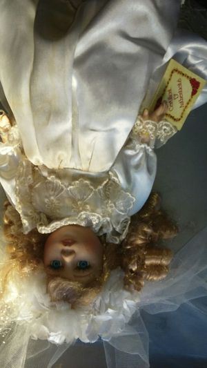 Antique porcelain doll with certificate of authenticity for Sale in Tampa, FL