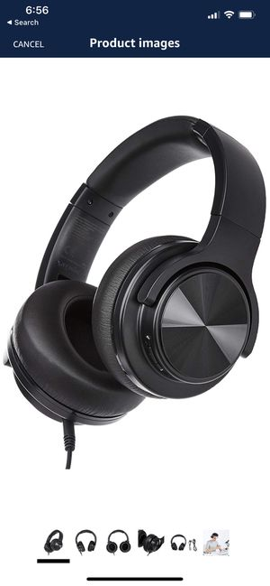 Basics Over-ear bloutooth Wireless Headset with Micro-USB and 3.5 Audio Cable Black for Sale in Katy, TX