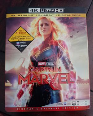 CAPTAIN MARVEL (4K + BLU RAY) ***SEE OTHER POSTS*** for Sale in El Cajon, CA