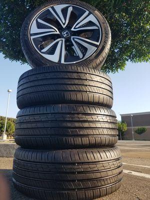 Honda civic original rims R17 llantas %99.9 civic wheels 215 45 R17 civic 2006 a 2015 👍 for Sale in Huntington Park, CA