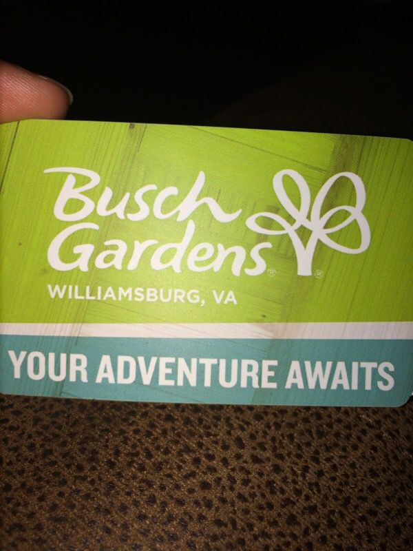 Busch gardens ticket