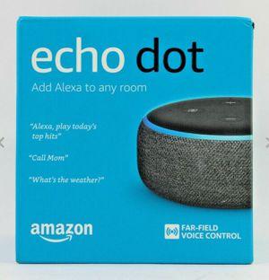 Amazon Echo Dot (3rd Generation, Charcoal) - New, Sealed! for Sale in Auburn, WA