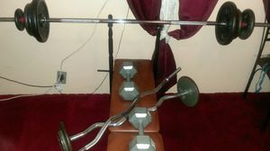 weight bench, 2 curling bar, dum bell .. trade for lg or zte phone for Sale in Philadelphia, PA
