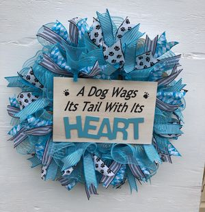 Deco mesh Doggie wreath for Sale in Greer, SC