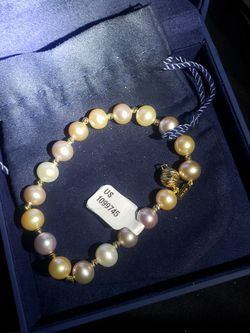 Freshwater 8-8.5mm Pink Multi Color Pearl 14kt Rose Gold Bracelet for Sale in University Place,  WA