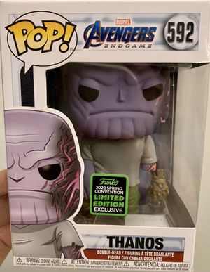 Funko Pop 2020 Spring Convention Exclusive Avengers Endgame Thanos Figure for Sale in Clovis, CA