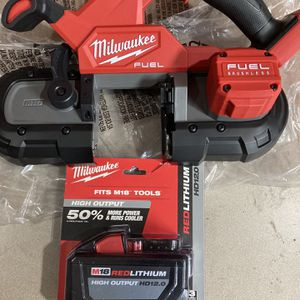 Milwaukee M18 Fuel Compact Band Saw And 12.0 Batt. for Sale in Philadelphia, PA