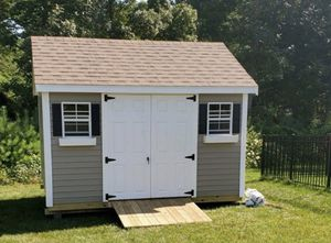 New 10' x 12' Pebble Vinyl Shed with Chateau Roof for Sale in Rehoboth, MA
