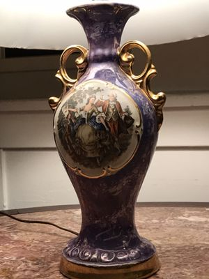 Antique ceramic romeo julliete lamp for Sale in Los Angeles, CA