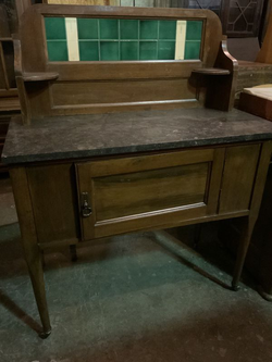 Antique Marble Topped Kitchen Island - Delivery Available for Sale in Tacoma,  WA