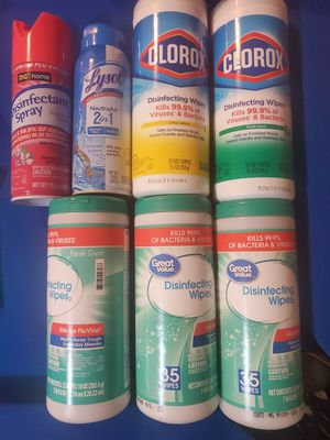 Wipes and spray for Sale in Greensboro, NC