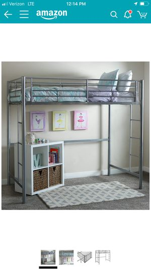Loft bunk bed frame and memory foam mattress included for Sale in San Diego, CA
