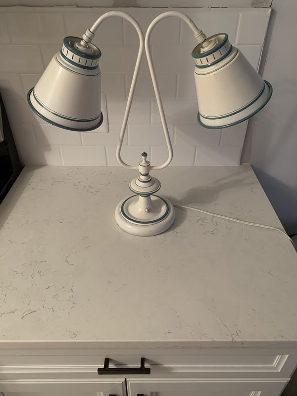 Two headed vintage table/desk lamp