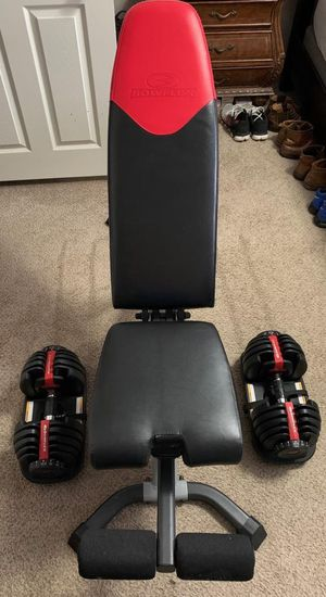 Bowflex bench and weights for Sale in Manvel, TX