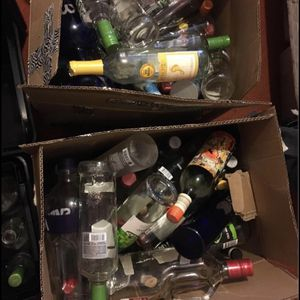 Empty Alcohol Glass Bottles $25 For Box for Sale in Modesto, CA