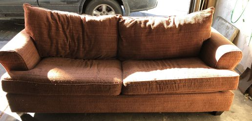 USED couch with pull out bed and chair with ottoman for Sale in Littleton,  CO