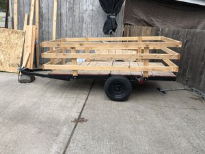 4x8 Utility Trailer (Plywood can be added to sides if wanted) OBO for Sale in Saint Paul, OR