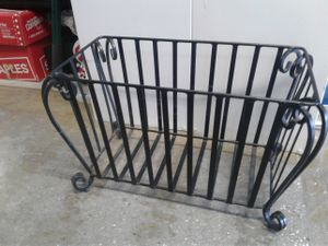Iron Magazine Rack and Metal Basket!!! for Sale in Baltimore, MD