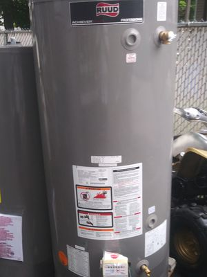 Ruud nat gas pv 75 gallon water heater for Sale in Waltham, MA
