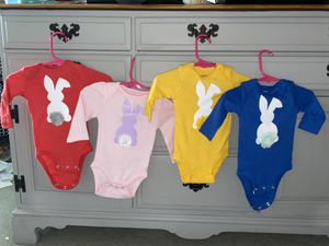 Custom Easter onesies size 3 months for Sale in Le Raysville, PA