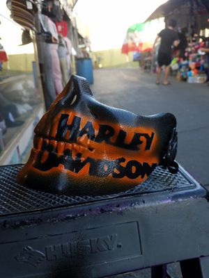 Harley-Davidson half skull airbrush mask for Sale in Stanton, CA