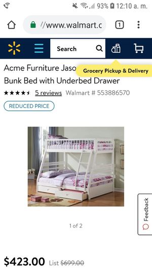 Bunk bed white for Sale in Miami Gardens, FL