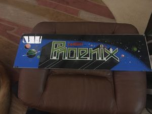 Centuri Phoenix Arcade Video Game Marquee for Sale in Yorba Linda, CA