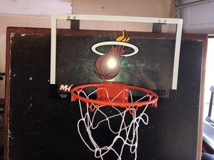 Miami Heat over the door basketball hoop for Sale in Raleigh, NC
