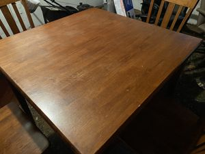 Wooden kitchen table with wooden 4 chairs for Sale in Howell Township, NJ