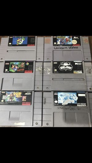 Super Nintendo Video Games for Sale in Harwood Heights, IL