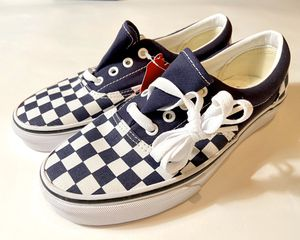 Vans navy blue checkered 6.0 men's 7.5 women's new for Sale in Dallas, TX