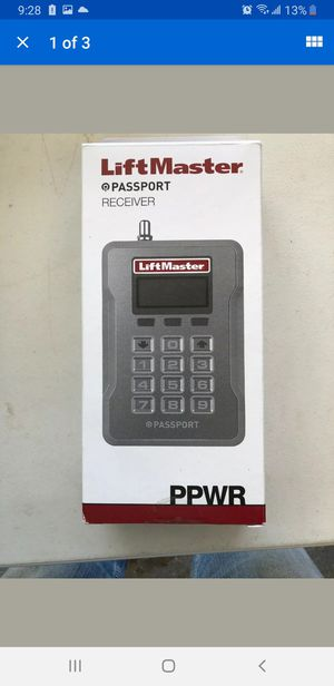 New Open Box LiftMaster Passport PPWR Receiver with Security+ 2.0 for Sale in Chicago, IL