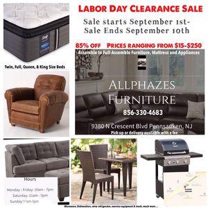 All Phazes Furniture Clearance Sale for Sale in Pennsauken Township, NJ